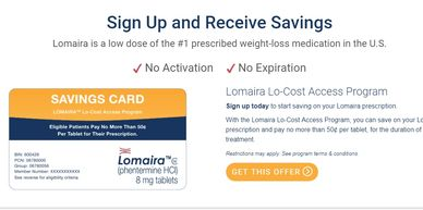 Lomaira Lo-Cost Access Program Save on your Lomaira prescription and pay no more than 50¢ per tablet