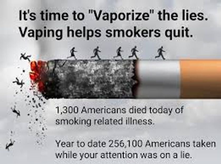 Don't be a statistic! Stop smoking TODAY! Over 480k people die per year from smoking cigarettes