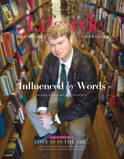 Michael Thompson featured on the cover of Gainesville Lifestyle Magazine.