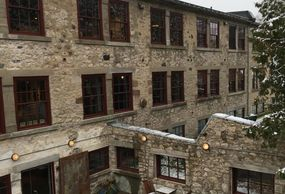 An image of the award winning historic Alton Mill Arts Centre, home to the Hive Encaustic Studio