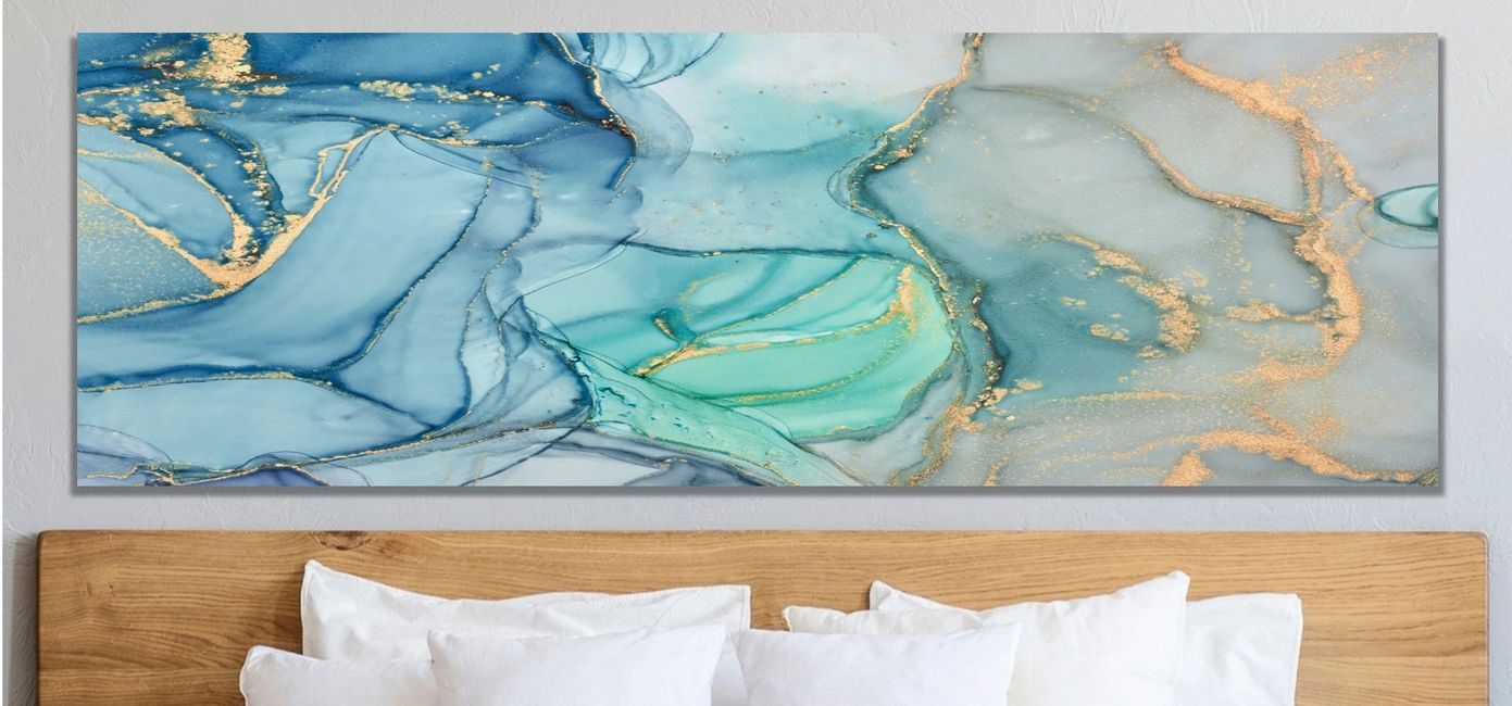 Large Acrylic Pour Painting on Canvas Original Art Acrylic Pour Paintings Abstract Canvas Art Print