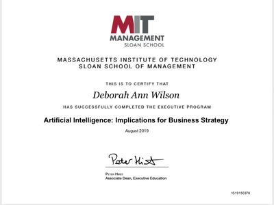 Artificial Intelligence MIT Sloan School of Management
