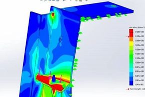 FEA results of a steel construction