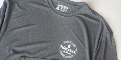 The Waxed Hydrophobic shirts repel water, liquids, stains, and more.
