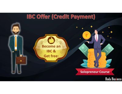 Become an IBC on EMI basis and get Solopreneur course worth Rs. 19500/- free