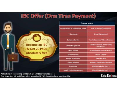 Super Bonanaza, Become an IBC on full payment and get 20 courses worth more than 3 lakhs free.
