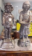Pair of large resin figures
