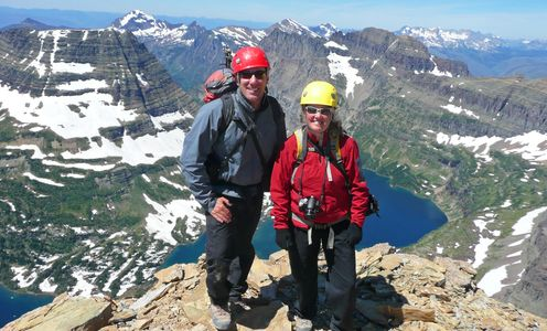Glacier National Park. Reynolds Mountain Summit.. Glacier Park Vacation Planning.