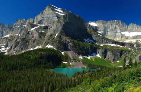 Mount Gould and Grinnell Lake. Glacier National Park Vacation Planning