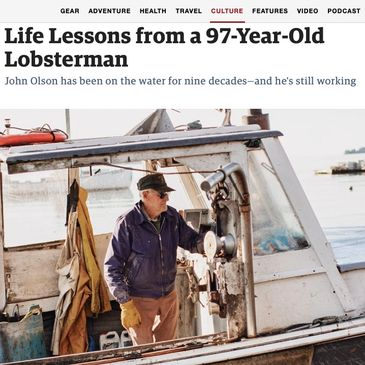 John Olson is Maine's oldest lobsterman--possibly the world's!