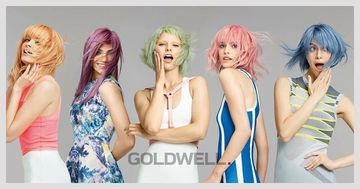 women with different color hair from goldwell