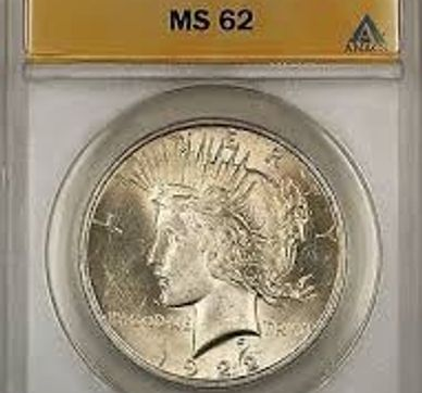 Anacs certified Peace Silver Dollar, anacs graded coin,raleighcoindealers.com,MS Peace dollar,