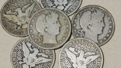 90% silver barber half dollars,good condition barber silver half dollars,