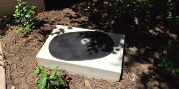 Base plate sitting on concrete slab