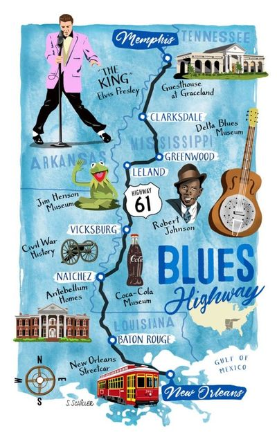 Highway 61 blues music cycling time trial road race challenge bike event