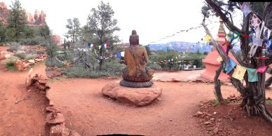 Amitabha Stupa in Sedona red rock country. Perfect place for meditation and ceremony.