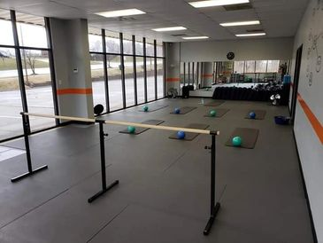 Front Room, used for Barre, Yoga, Power Grid, Youth & Seminars