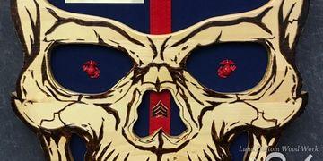 Luna Custom Wood Work - Military Plaques, Skull Plaque