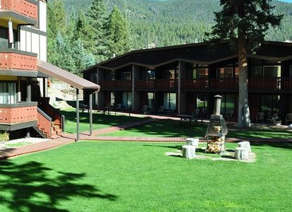 Lodging and venues all in one place!  Firepits and plenty of lawn games for the families.