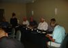 Treasurer John Stroud gives financial report at the HOW II Restaurant at our August  14 meeting