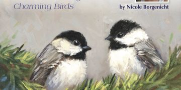 The lovely paintings by Krista Eaton interprets  charming personalities of birds!