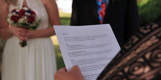 Ceremonies by Lori, ceremony script, wedding, marriage