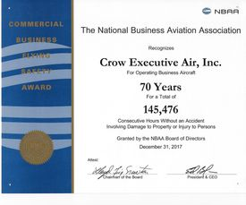 Commercial Business Flying Safety Award