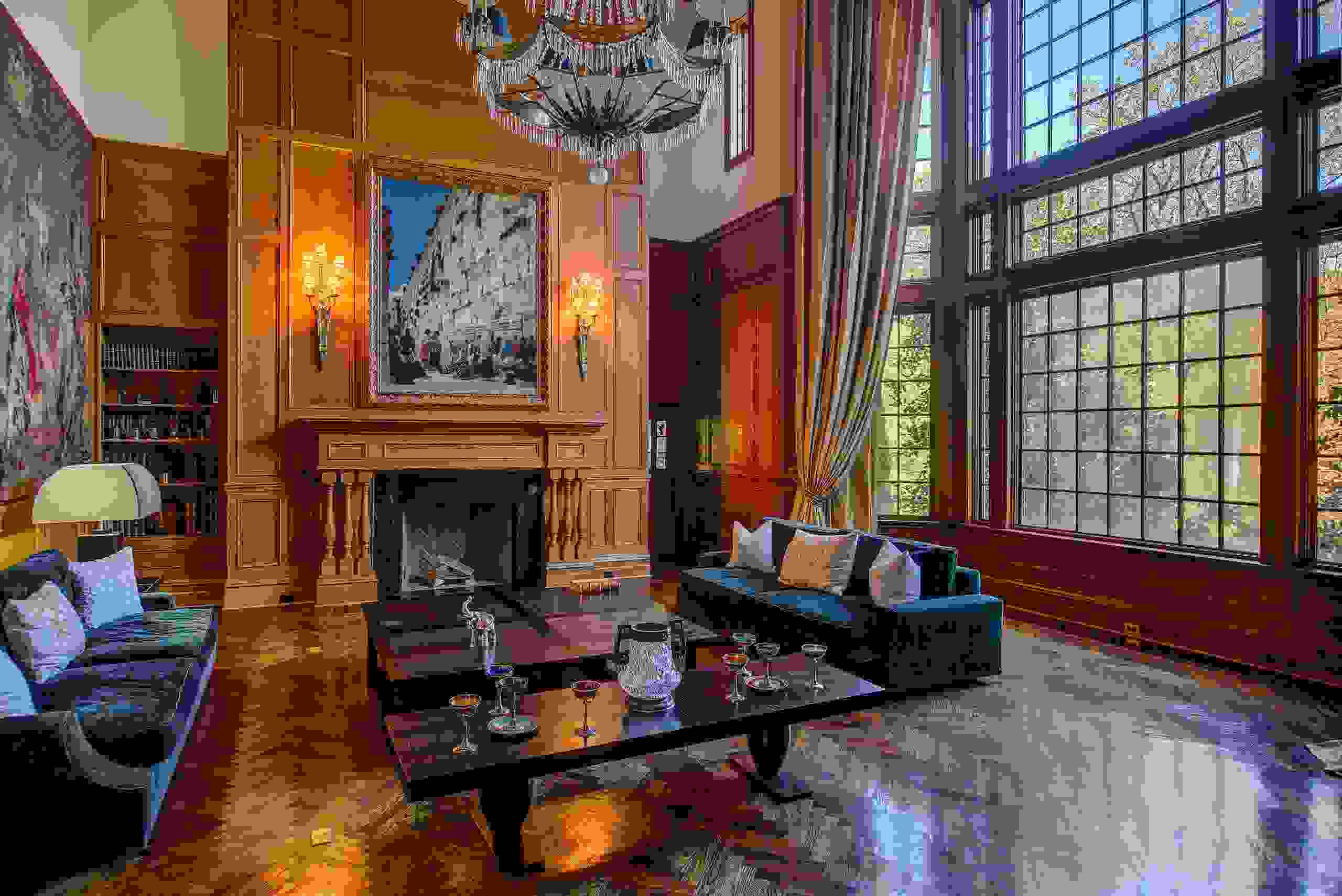 interior o a living room is Mansion in Westchester, New York