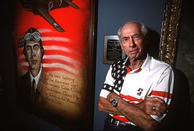 General Robert L Scott (retired) at the Museum of Aviation in Warner-Robins, Georgia, USA.