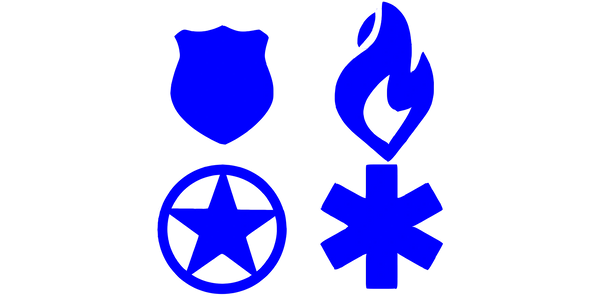 Symbols for first responders and military and military veterans