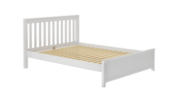 Queen size solid wood bed.