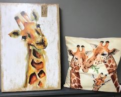 artwork and pillow
