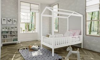 Fun new twin bed for a toddler