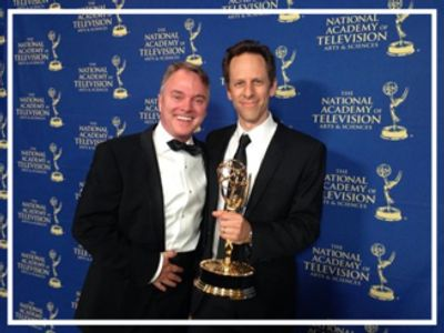 John Kavanaugh and Craig Gerber  winning the 2014 Daytime Emmy for the Sofia The First Main Title.