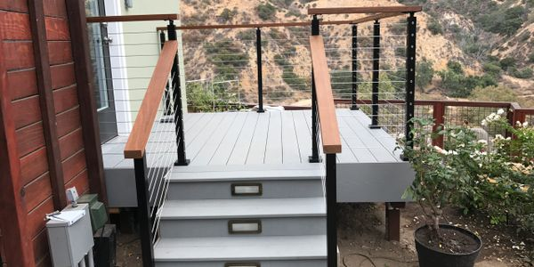 TimberTech deck with cable railing