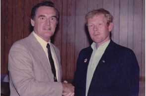 Ronald R. Scott with Governor Edward King