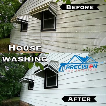 House washing. soft washing. power washing.