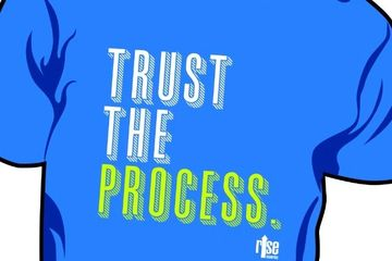 Trust the process motivational apparel