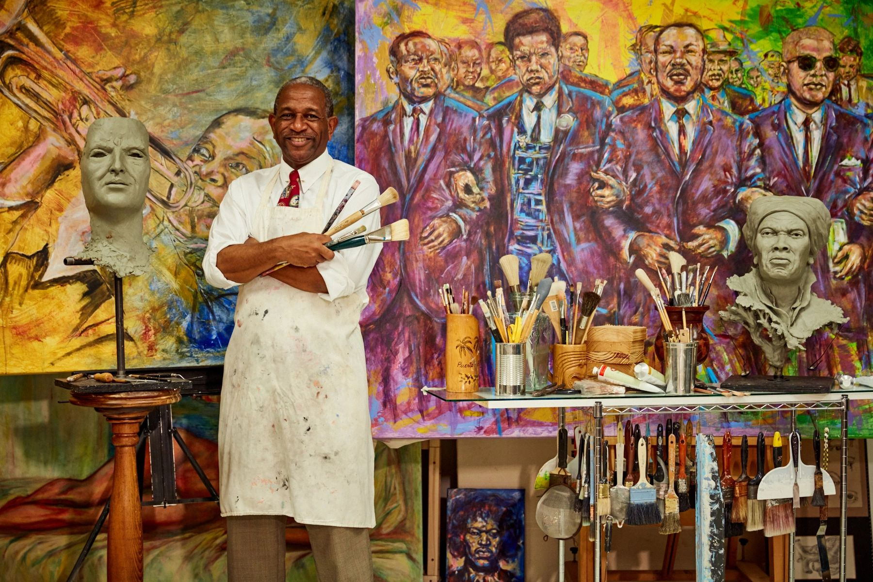 Kevin Pullen in the artist's studio
