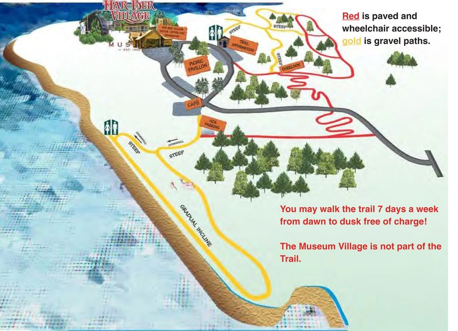 Map of the Har-Ber Village Nature Trail.