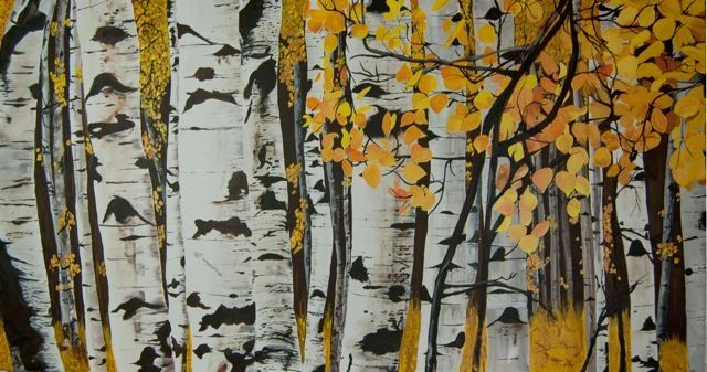 Aspen Trees Painting