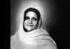 "Sri Anandamayi Ma  © 2005 charcol on paper 23"" x 30""  Collection the artist"