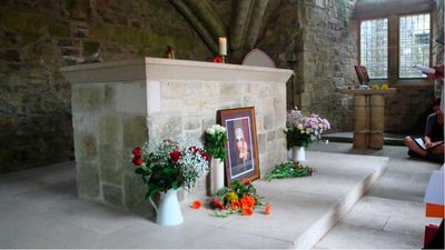 The Abbey in Glastonbury, Celebration of Mary Magdalene Feast. Richard Stodart's altar is center.