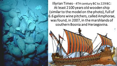 In 2007 archeologists discovered two Illyrian ships in the marshlands of Hutovo Blato-Wildlife Refug