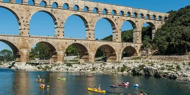 Pont du Gard is impressive – you can visit on foot or take a kayak under the bridge. Likewise the Go