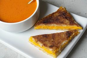 Purée Bread Grilled Cheese Sandwich IDDSI