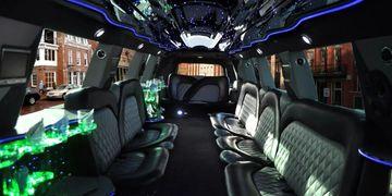 White Cadillac Escalade Limousine Inside