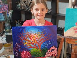 Everyone can paint along with Donna in this new series of On Art Classes online.
