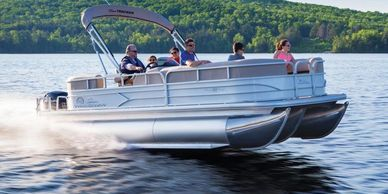 One of our pontoon boat rentals at Smith Mountain Lake, VA