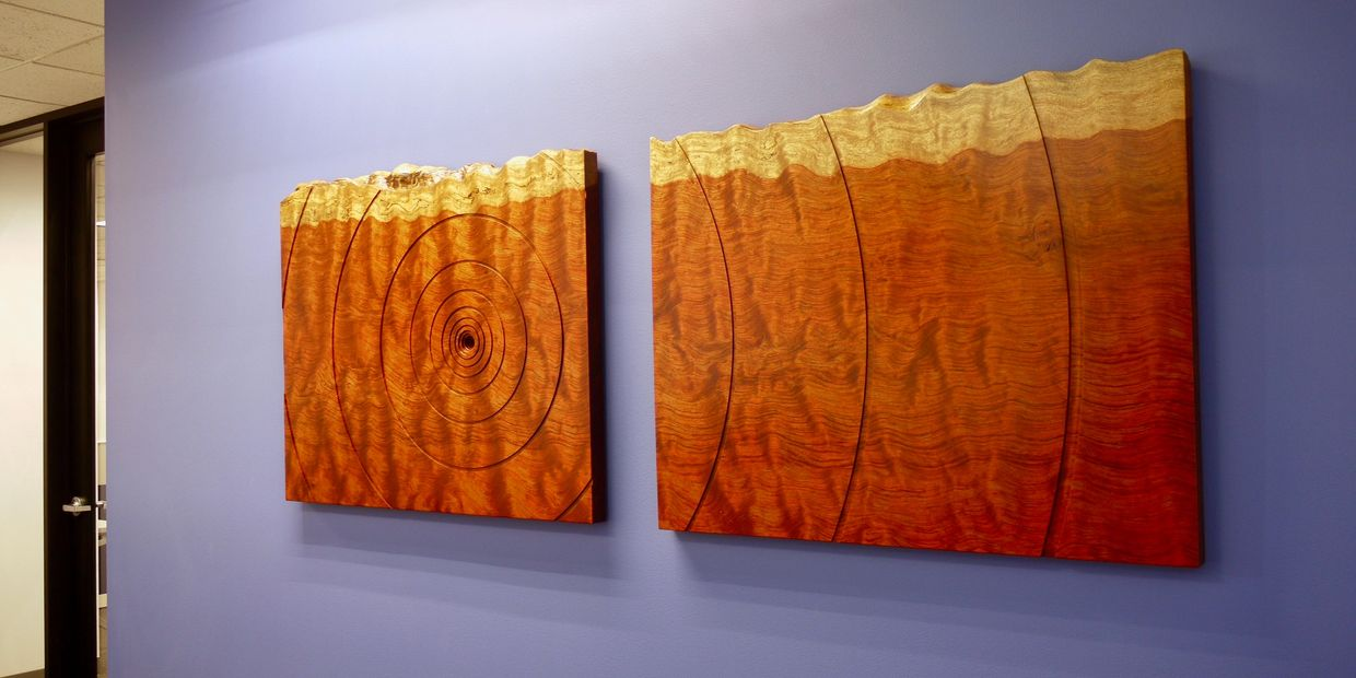 Abstract contemporary art, artwork, installations, Wood and metal, wood grain, natural art
